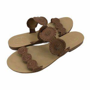 Jack Rogers Womens Sandals Brown Flat Heel Sz 8.5